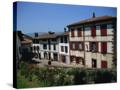 St. Jean Pied De Port, Pays Basque, Aquitaine, France, Europe-Nelly Boyd-Stretched Canvas Print