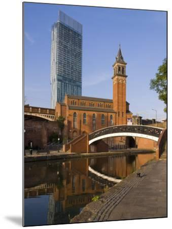 301 Deansgate, St. George's Church, Castlefield Canal, Manchester, England, United Kingdom, Europe-Charles Bowman-Mounted Photographic Print