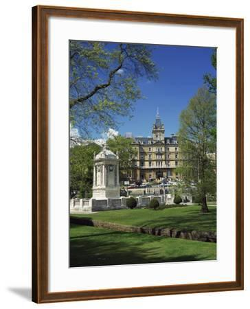 Cenotaph War Memorial in Central Gardens in Front of the Town Hall, Bournemouth, Dorset, England-Pearl Bucknall-Framed Photographic Print