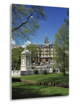 Cenotaph War Memorial in Central Gardens in Front of the Town Hall, Bournemouth, Dorset, England-Pearl Bucknall-Metal Print