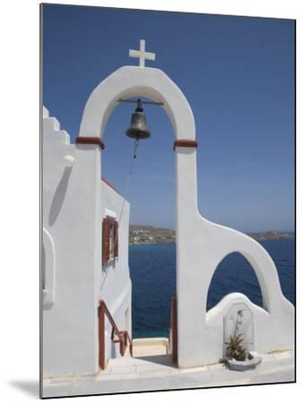 Church Near the Beach of Psarou, Mykonos, Cyclades, Greek Islands, Greece, Europe-Angelo Cavalli-Mounted Photographic Print