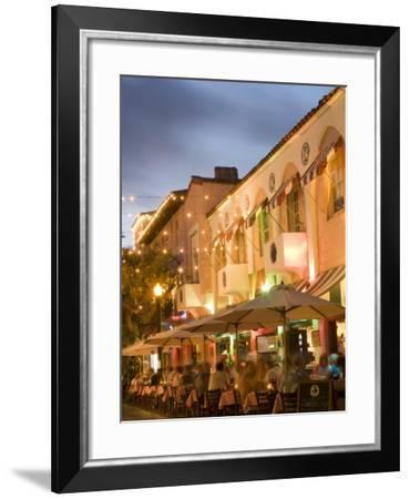 Espanola Way, Miami Beach, Florida, United States of America, North America-Angelo Cavalli-Framed Photographic Print