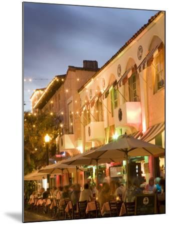 Espanola Way, Miami Beach, Florida, United States of America, North America-Angelo Cavalli-Mounted Photographic Print