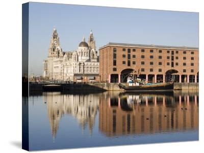 Albert Docks, Liverpool, Merseyside, England, UK-Martin Child-Stretched Canvas Print