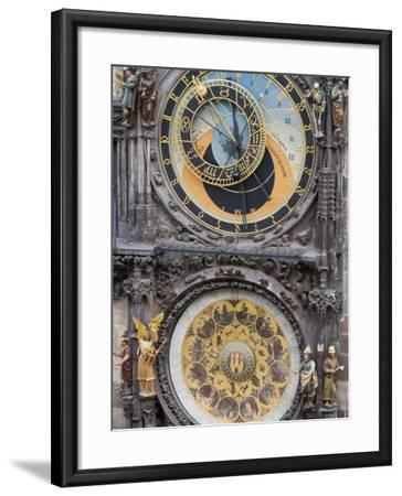 Astronomical Clock, Town Hall, Old Town Square, Old Town, Prague, Czech Republic, Europe-Martin Child-Framed Photographic Print