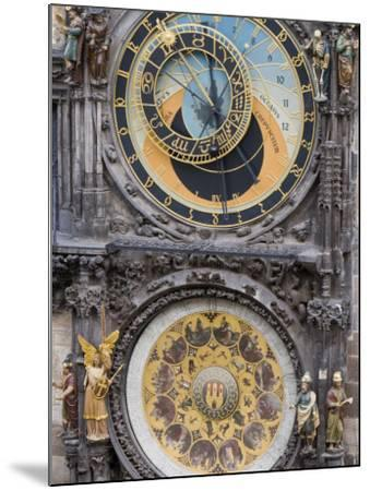 Astronomical Clock, Town Hall, Old Town Square, Old Town, Prague, Czech Republic, Europe-Martin Child-Mounted Photographic Print