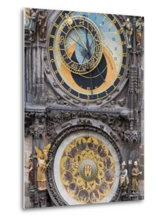 Astronomical Clock, Town Hall, Old Town Square, Old Town, Prague, Czech Republic, Europe-Martin Child-Metal Print