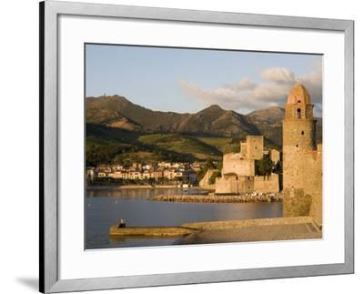 Morning Light, Eglise Notre-Dame-Des-Anges, Collioure, Pyrenees-Orientales, Languedoc, France-Martin Child-Framed Photographic Print