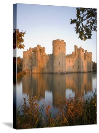 Bodiam Castle, East Sussex, England, United Kingdom, Europe-Mark Banks-Stretched Canvas Print