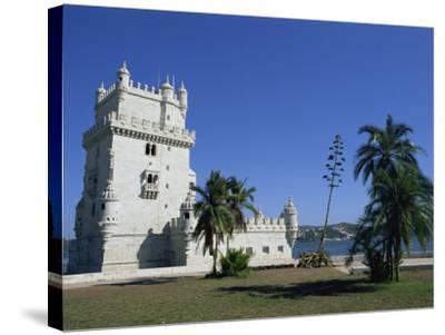 Exterior of Torre De Belem, UNESCO World Heritage Site, Belem, Lisbon, Portugal-Neale Clarke-Stretched Canvas Print