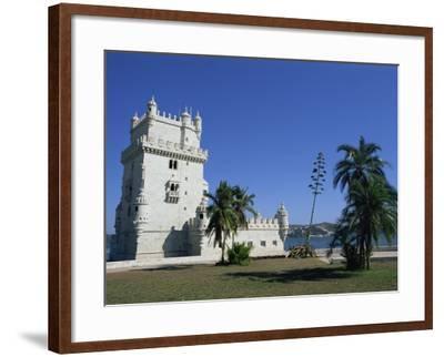 Exterior of Torre De Belem, UNESCO World Heritage Site, Belem, Lisbon, Portugal-Neale Clarke-Framed Photographic Print