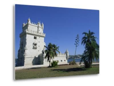 Exterior of Torre De Belem, UNESCO World Heritage Site, Belem, Lisbon, Portugal-Neale Clarke-Metal Print