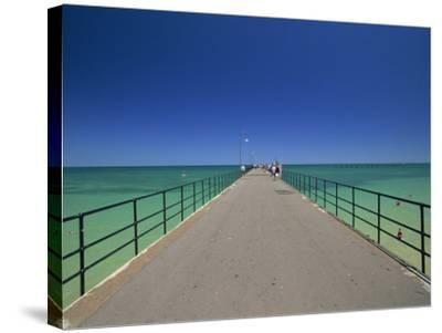 Glenelg Pier, Glenelg, Adelaide, South Australia, Australia, Pacific-Neale Clarke-Stretched Canvas Print