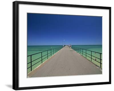 Glenelg Pier, Glenelg, Adelaide, South Australia, Australia, Pacific-Neale Clarke-Framed Photographic Print