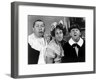 All the World's a Stooge, Curly Howard, Larry Fine, Moe Howard, 1941--Framed Photo