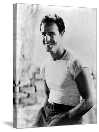 A Streetcar Named Desire, Marlon Brando, 1951--Stretched Canvas Print