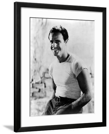 A Streetcar Named Desire, Marlon Brando, 1951--Framed Photo