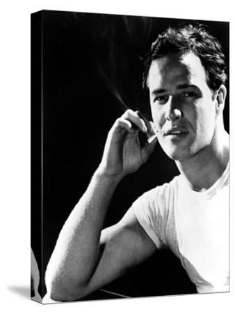 A Streetcar Named Desire, Marlon Brando, 1951--Stretched Canvas Print