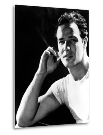 A Streetcar Named Desire, Marlon Brando, 1951--Metal Print