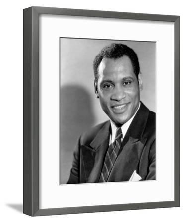 Paul Robeson, c.1930s--Framed Photo