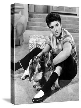 Jailhouse Rock, Elvis Presley, 1957--Stretched Canvas Print
