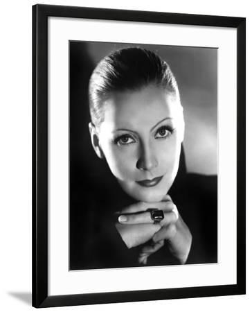 Portrait of Mata Hari, Greta Garbo, 1931--Framed Photo
