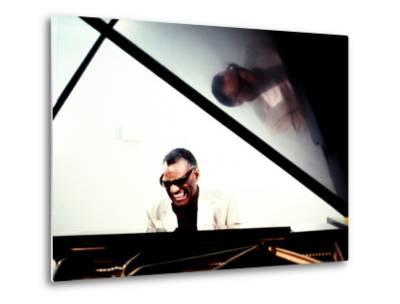 Ray Charles in the Studio at RPM International, Los Angeles--Metal Print