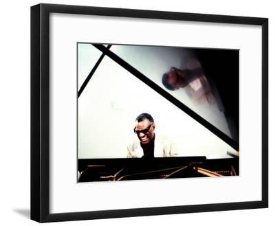 Ray Charles in the Studio at RPM International, Los Angeles--Framed Photo