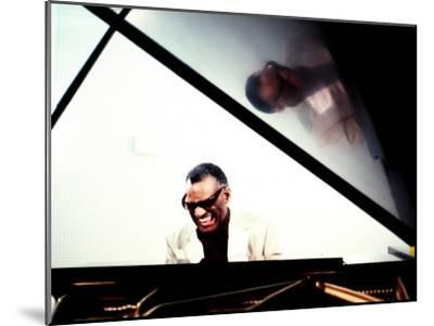 Ray Charles in the Studio at RPM International, Los Angeles--Mounted Photo
