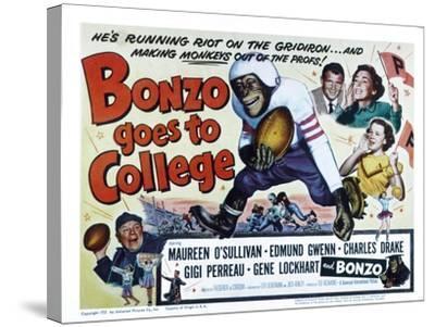 Bonzo Goes to College, Edmund Gwenn, Bonzo, Charles Drake, Maureen O'Sullivan, Gigi Perreau, 1952--Stretched Canvas Print