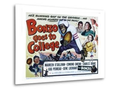 Bonzo Goes to College, Edmund Gwenn, Bonzo, Charles Drake, Maureen O'Sullivan, Gigi Perreau, 1952--Metal Print
