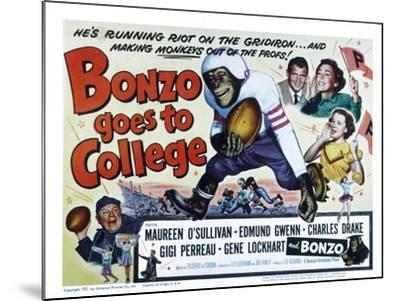 Bonzo Goes to College, Edmund Gwenn, Bonzo, Charles Drake, Maureen O'Sullivan, Gigi Perreau, 1952--Mounted Photo
