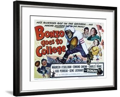 Bonzo Goes to College, Edmund Gwenn, Bonzo, Charles Drake, Maureen O'Sullivan, Gigi Perreau, 1952--Framed Photo