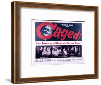 Caged, Eleanor Parker, Agnes Moorehead, Hope Emerson, 1950--Framed Photo