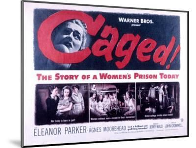 Caged, Eleanor Parker, Agnes Moorehead, Hope Emerson, 1950--Mounted Photo