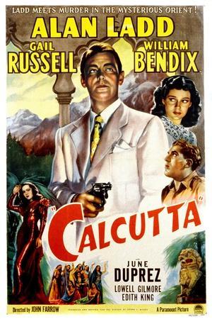 Calcutta, Alan Ladd, Gail Russell, William Bendix, June Duprez, 1947--Stretched Canvas Print