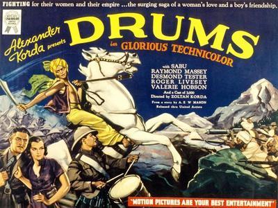 Drums, Valerie Hobson, Sabu, 1938--Framed Photo