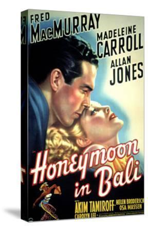 Honeymoon in Bali, Fred MacMurray, Madeleine Carroll, 1939--Stretched Canvas Print