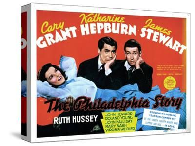 The Philadelphia Story, Katharine Hepburn, Cary Grant, James Stewart, 1940--Stretched Canvas Print