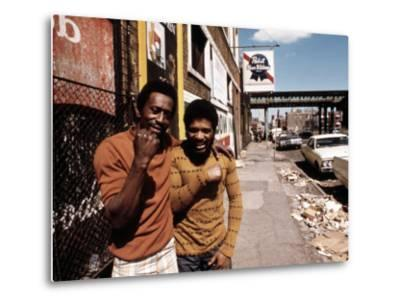 1970s America, Two Young Men on the South Side of Chicago, 1973--Metal Print