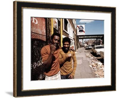 1970s America, Two Young Men on the South Side of Chicago, 1973--Framed Photo