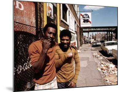 1970s America, Two Young Men on the South Side of Chicago, 1973--Mounted Photo