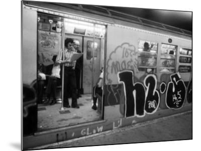 1970s America, Graffiti on a Subway Car on the Lexington Avenue Line. New York City, New York, 1972--Mounted Photo