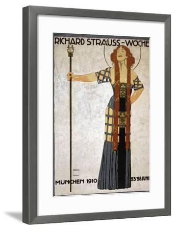 Festival of Music by Richard Strauss, in Munich in 1910--Framed Photo