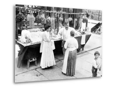 Little Italy, Vendor with Wares Displayed During a Festival, New York, 1930s--Metal Print