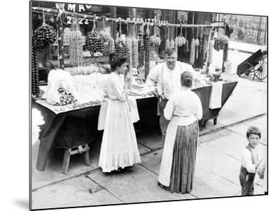 Little Italy, Vendor with Wares Displayed During a Festival, New York, 1930s--Mounted Photo