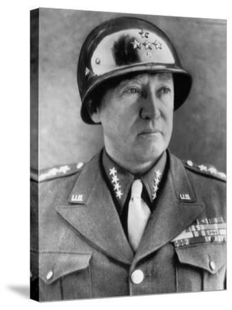 General George S. Patton Jr., U.S. Army General, 1940s--Stretched Canvas Print
