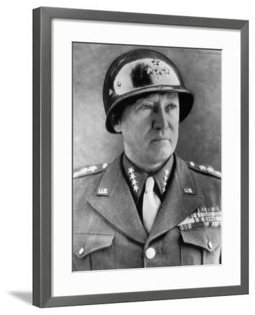 General George S. Patton Jr., U.S. Army General, 1940s--Framed Photo