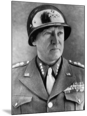 General George S. Patton Jr., U.S. Army General, 1940s--Mounted Photo