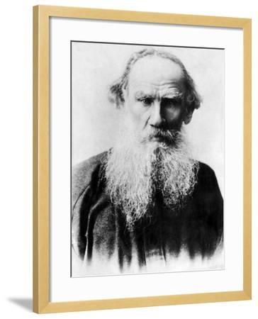 Leo Tolstoy, Russian Writer, Early 1900s--Framed Photo